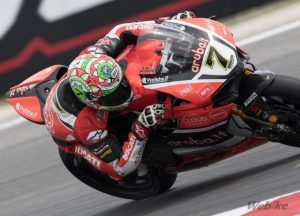 [DUCATI]SBK Rd.8 Race1 Great comeback for Davies, from 22nd to 4th in Race 1 in Misano; Giugliano is 14th after a crash