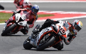 [APRILIA]SBK Rd.9 Double top-10 finish in Race1 for the Aprilia riders