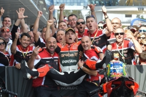 [DUCATI]SBK Rd.12 Chaz Davies does the double again at Jerez, Davide Giugliano finishes Race 2 in 13th position