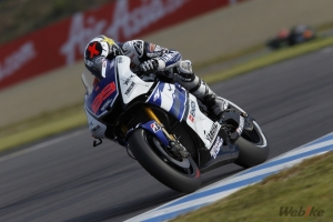 ▲YAMAHA  YZR-M1(2012年) Jorge Lorenzo選手 MotoGP日本站(Twin Ring Motegi茂木賽道)第2名